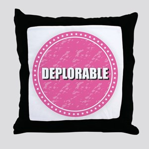 Deplorable - Pink Throw Pillow