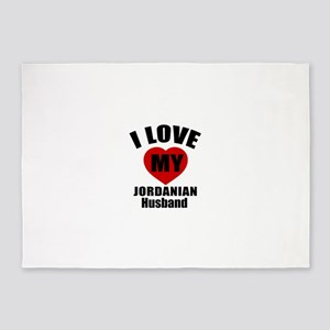 I Love My Jordan Husband 5'x7'Area Rug