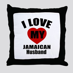 I Love My Jamaican Husband Throw Pillow