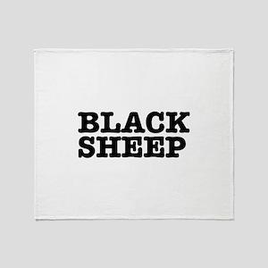 BLACK SHEEP:- Throw Blanket