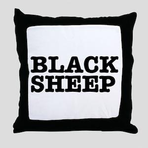 BLACK SHEEP:- Throw Pillow