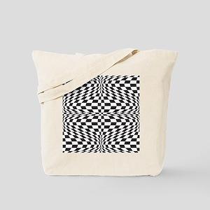 Optical Checks Tote Bag