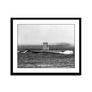 USS CROAKER Framed Panel Print