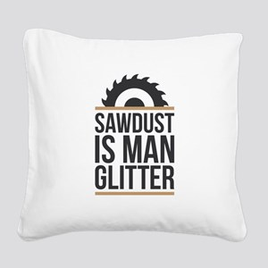 Sawdust Square Canvas Pillow