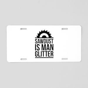 Sawdust Aluminum License Plate