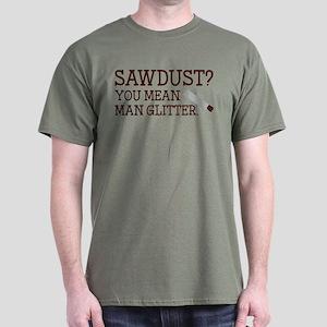 You Mean Man Glitter Dark T-Shirt