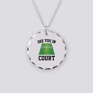 See You In Court Necklace Circle Charm