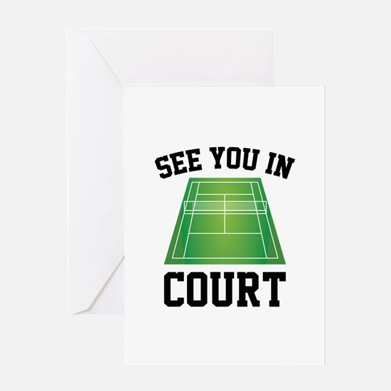 See You In Court Greeting Card