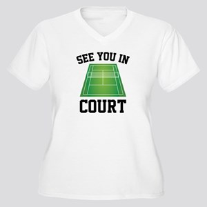 See You In Court Women's Plus Size V-Neck T-Shirt