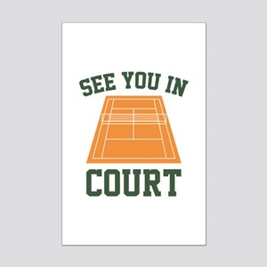 See You In Court Mini Poster Print