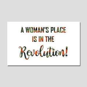 A WOMAN'S PLACE... Car Magnet 20 x 12