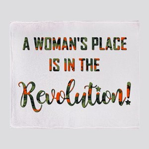 A WOMAN'S PLACE... Throw Blanket