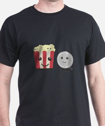 Cinema movie pocorn with faces T-Shirt