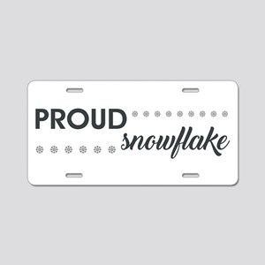 PROUD SNOWFLAKE Aluminum License Plate