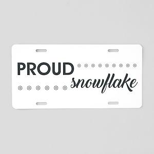 PROUD SNOWFLAKE Aluminum License Plate