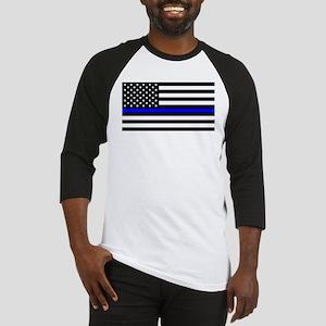 Blue Lives Matter US Flag Police T Baseball Jersey
