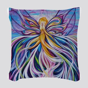 Rising Up Woven Throw Pillow