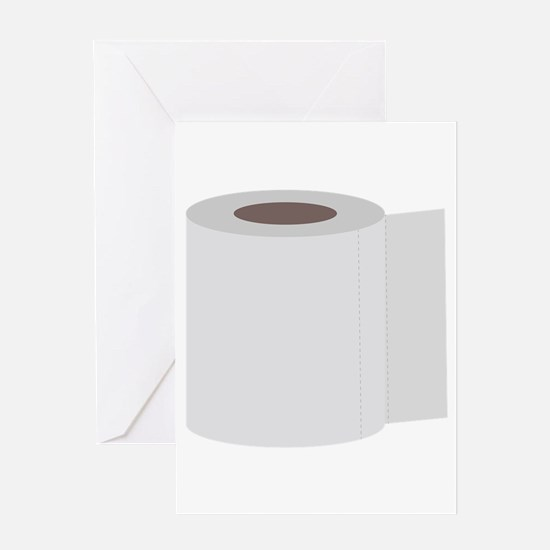 Roll of toilet paper Greeting Cards