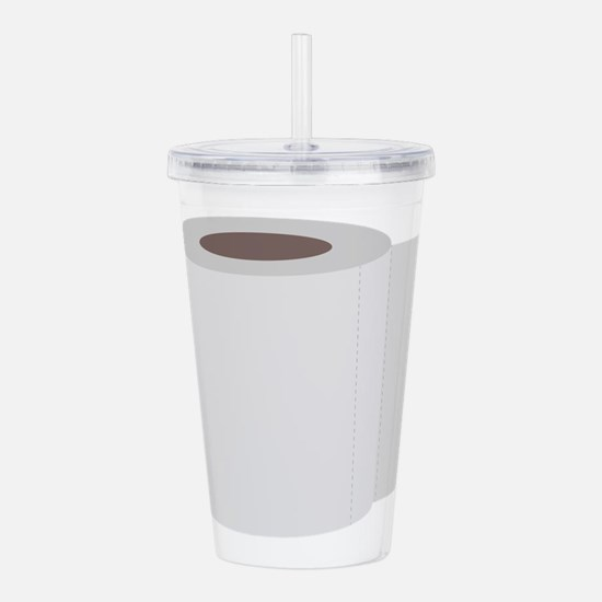 Roll of toilet paper Acrylic Double-wall Tumbler