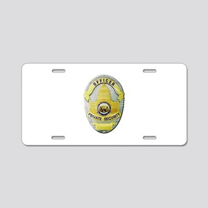 Private Security Aluminum License Plate
