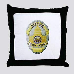 Private Security Throw Pillow