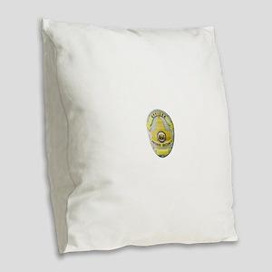 Private Security Burlap Throw Pillow