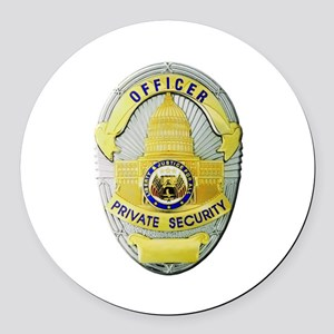 Private Security Round Car Magnet
