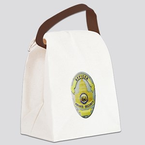 Private Security Canvas Lunch Bag