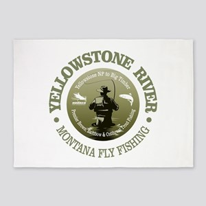 Yellowstone River 5'x7'Area Rug