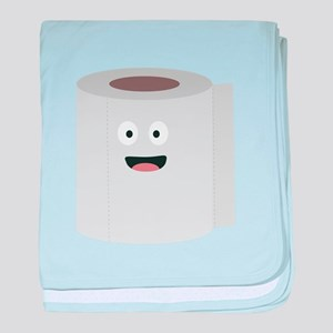 Toilet paper with face baby blanket