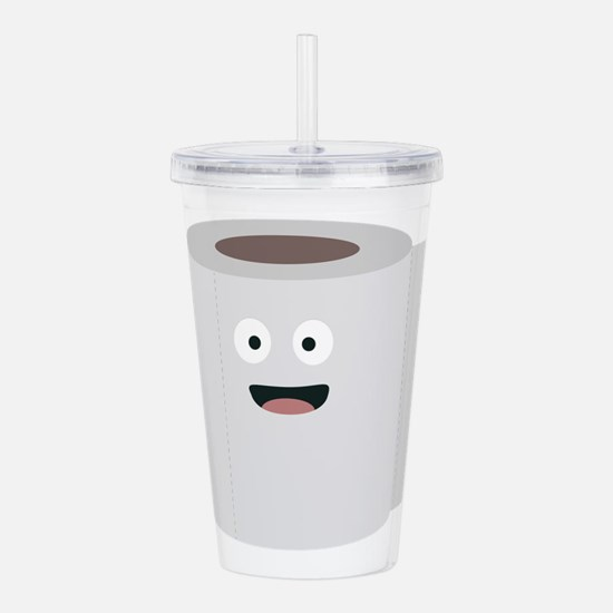 Toilet paper with face Acrylic Double-wall Tumbler