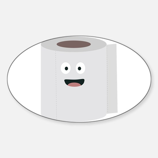 Toilet paper with face Decal