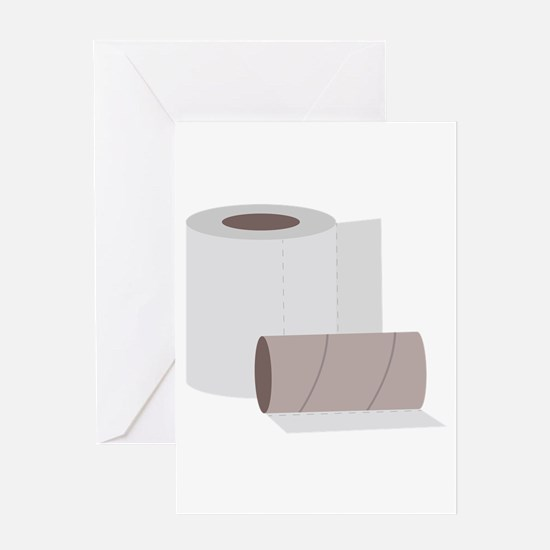 Toilet paper rolls Greeting Cards