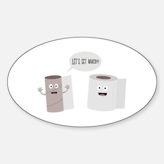 Toilet roll tissue cartoon Decal