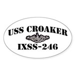 USS CROAKER Sticker (Oval)