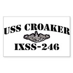 USS CROAKER Sticker (Rectangle)