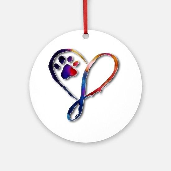 Infinity Paw Round Ornament