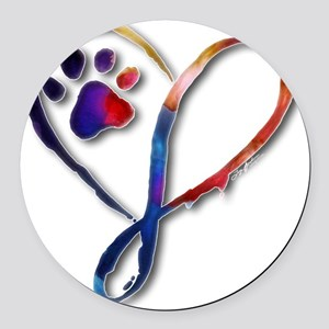Infinity Paw Round Car Magnet