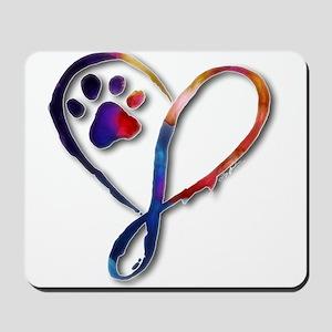 Infinity Paw Mousepad