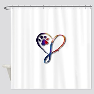 Infinity Paw Shower Curtain