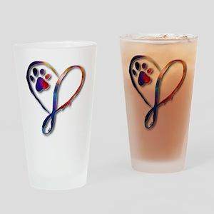 Infinity Paw Drinking Glass