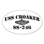 USS CROAKER Sticker (Oval)