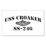 USS CROAKER Sticker (Rectangle)