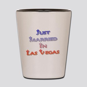 Just Married In Las Vegas Crown Style Shot Glass