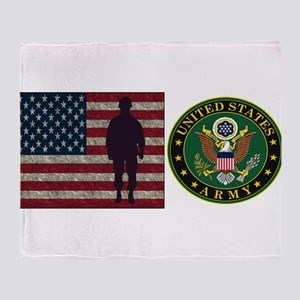 USArmy Symbol Flag PP Throw Blanket