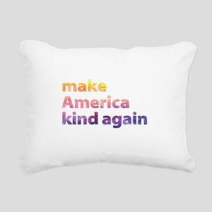 make America kind again Rectangular Canvas Pillow