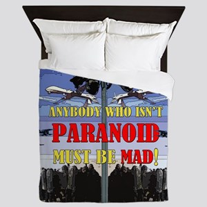 Anybody who isnt paranoid must be Mad! Queen Duvet