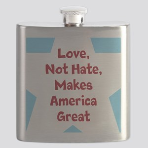 Love Makes America Great Flask