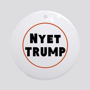 Nyet Trump, No Trump/Putin Round Ornament