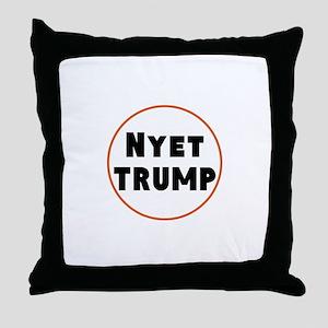 Nyet Trump, No Trump/Putin Throw Pillow